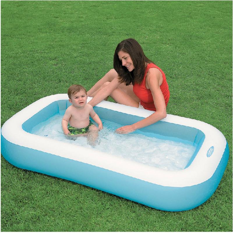 Popular rectangular inflatable pool buy cheap rectangular inflatable pool lots from china for Intex inflatable rectangular swimming pool
