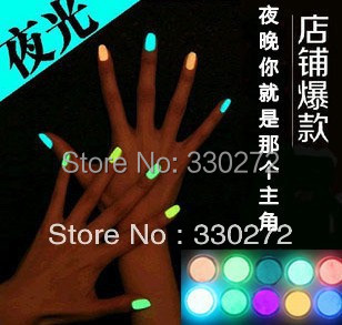 12Pcs/Lot   Free Fast Shipping Popular Luminous Nail Polish nail art / Fluorescent nail Enamel 20 Colors
