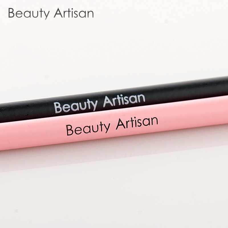 Beauty artisan professional eyebrow brush angled makeup brush tool beauty artisan professional eyebrow brush angled makeup brush tool oblique head wood handle cosmetics beauty make up tool us106 fandeluxe