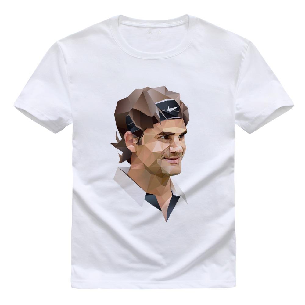 Roger Federer T Shirt Tennis Star Printed T-Shirt Male Short Sleeve RF Male Sports Tee Clothing funny roger federer T-Shirt(China (Mainland))