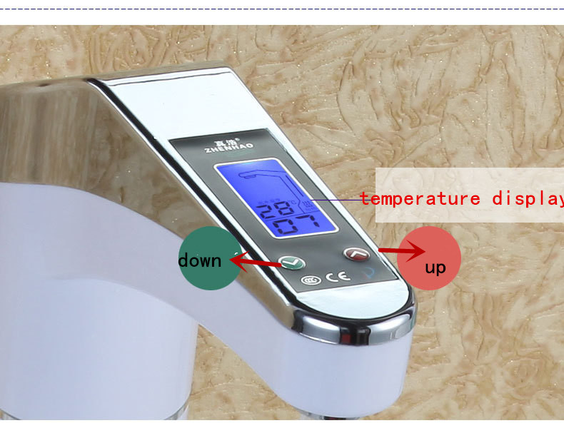 Intelligent LCD Electric Faucet Electric Hot Water Heater Home Kitchen Instant Hot Water Tap