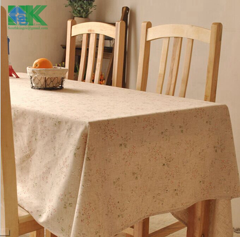 2016 Summer new Vintage crown linen table cloth coffee side table towel tablecloth shabby chic home decoration/toalha de mesa ,(China (Mainland))