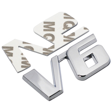 Buy Car Chrome Metal V6 Emblem Badge 3D Decal Trunk Auto Motor Sticker Car Styling Sticker Ford Fiesta Kuga Ranger Galaxy Fusion for $1.99 in AliExpress store