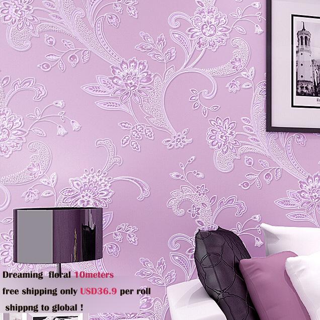 Здесь можно купить  new arrive very beautiful modern flower wallpaper for girl room first choice papel de parede 5 colors selection  Дом и Сад