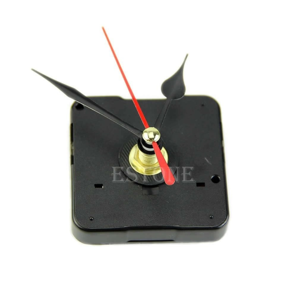 Quartz Wall Clock Movement Mechanism Repair Tool Kit with Black & Red Hands Free shipping-Y103(China (Mainland))