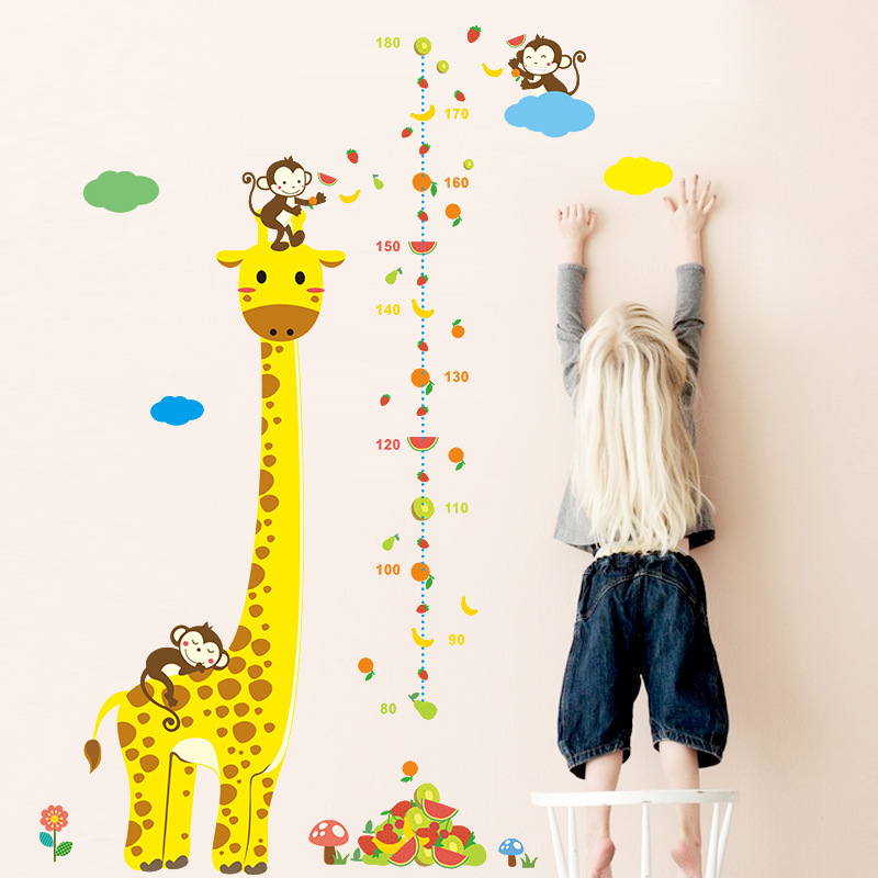 Animals Wall Stickers Home Decor DIY Baby Love Monkey Giraffe Wall Decals Art Animals Mural Baby Kids Room Decoration(China (Mainland))