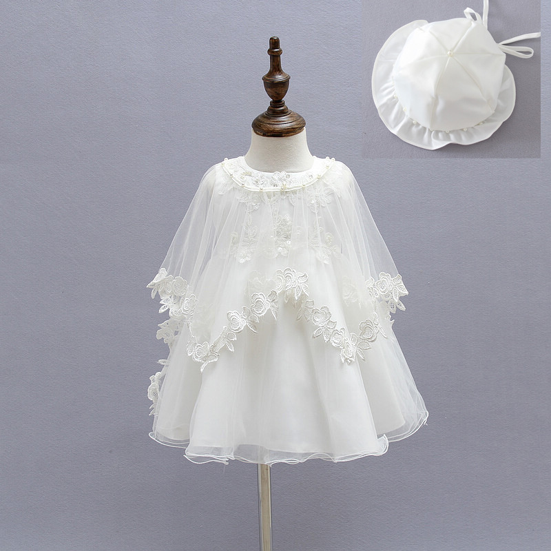 2016 Newborn Baby Christening Gown Infant Girl s White