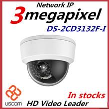 Nouvelle arrivée 3Mp multilingue Mini caméra dôme POE IP CCTV caméra DS-2CD3132F-I remplacer ds - 2cd2132f - is(China (Mainland))