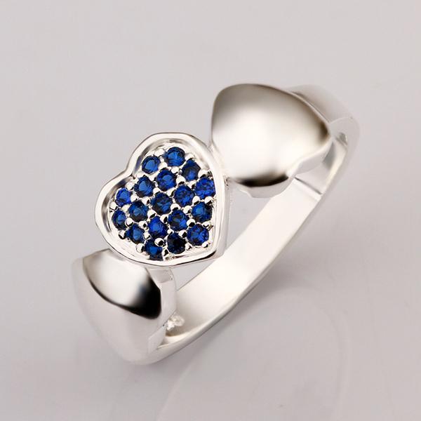 aliexpress buy blue to shape ring 925