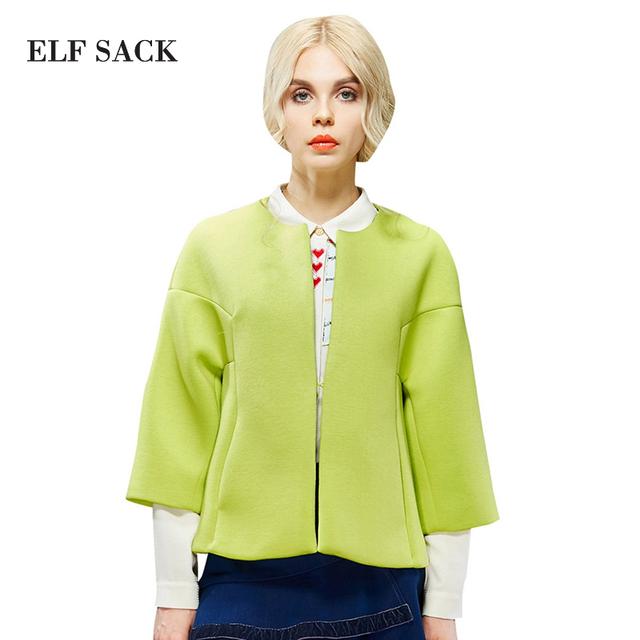 ELF SACK модный бренд новое прибытие 2016 весна женская свободные сладкий короткая ...