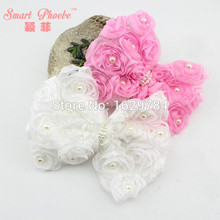 Buy 20pcs/2C Fashion Cute Lace Rose Floral Hair Bow Hairpins Solid Kawaii Pearls Bowknot Girls Hair Clip Girls Hair Accessories for $26.87 in AliExpress store