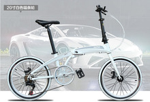Buy HITO bike 20 inch folding bicycle aluminum alloy frame double disc brake Foldable pedal MTB road bike 140-185cm rider for $196.56 in AliExpress store
