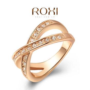 Roxi женское кольцо,  ручная работа, изготовлено из розового золота с трех разовым ...