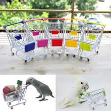 2015 echt Verkauf Papagei Spielzeug Vogel Spielzeug Papagei Vogel Mini Supermarkt Warenkorb Trolley Handyhalter Lagerung Kinder Spielzeug Al3276(China (Mainland))