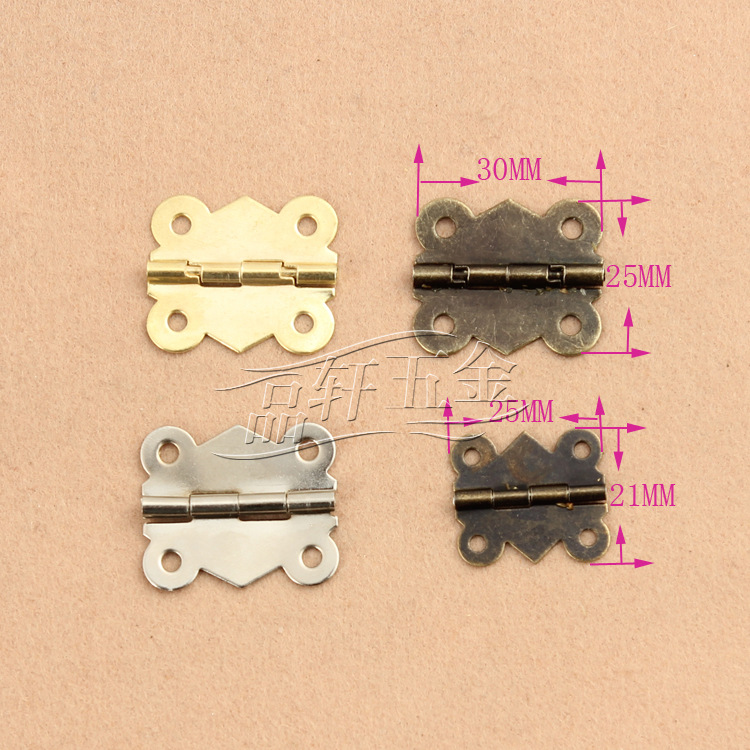 Hardware accessories factory direct wooden box wooden gift box hinge butterfly hinge M367