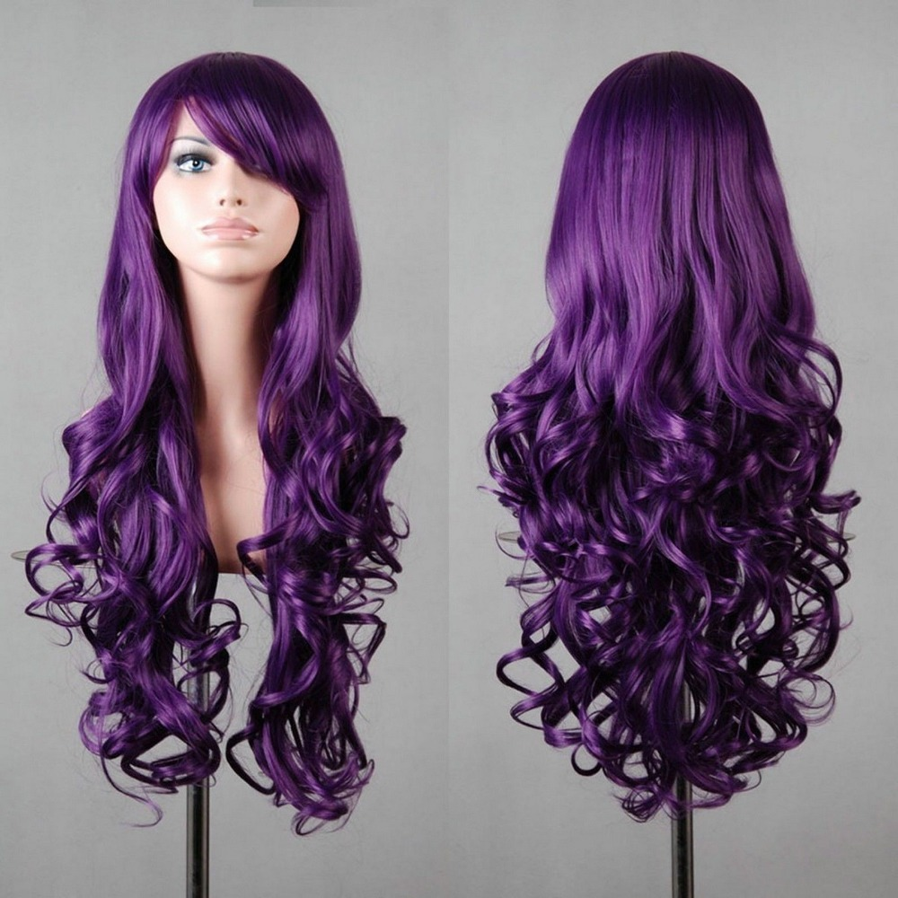 Deep Purple Long Hair Charming Deep Purple Hair