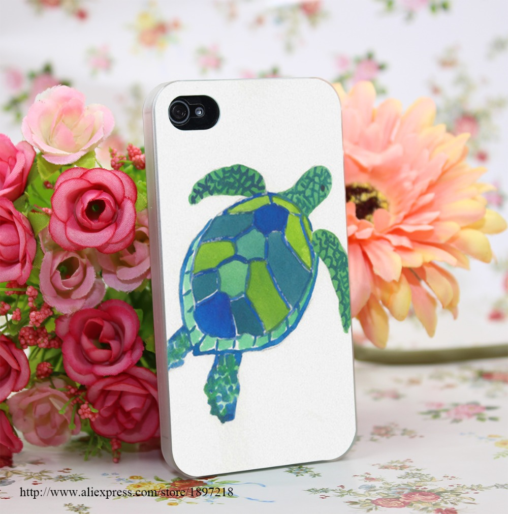 1342180Y Sea Turtle Hard Transparent Cover Case for iphone 4 4s 5 5s 6 6s Clear Cell Phone Cases(China (Mainland))