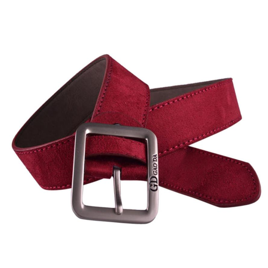 Brand New Boys Mens Casual Waistband Leather Metal Pin Buckle Belt Male cinto masculino Suede Leather
