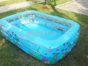 High Quality 196x143x46cm(LXWXH) Transparent Design Portable Baby Kid's Bathtub Summer Swimming Pool(China (Mainland))
