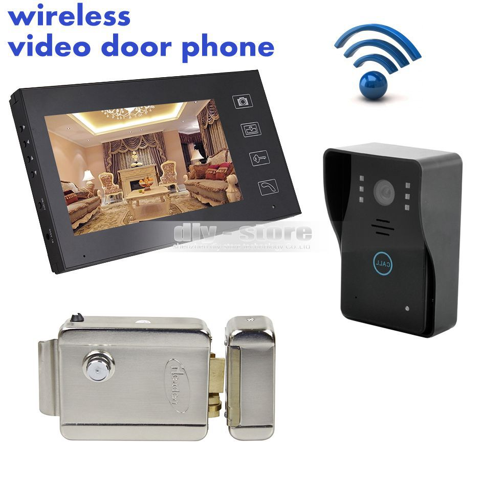 7 Wireless Video Door Phone Doorbell Intercom System Touch