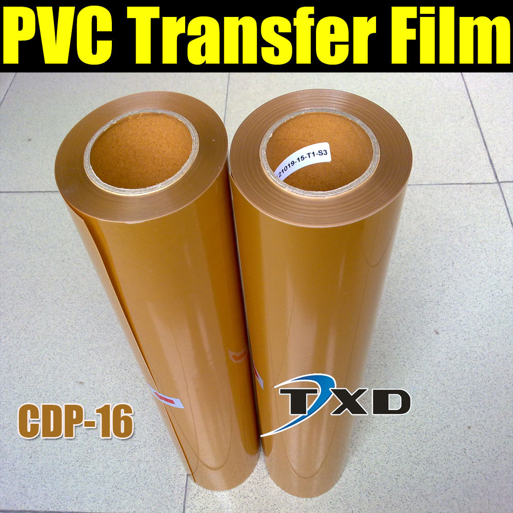 CDP-16 Gold PVC Heat Transfer Film/vinyl+High Quality+Free Shipping with size:0.5x25m per roll(China (Mainland))