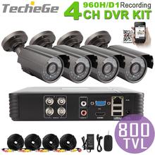 4CH 960 H Mini AHD DVR système 4 pcs CMOS 800TVL extérieure Warterproof Night Vision IR caméra avec IR - Cut bricolage économique cctv système(China (Mainland))