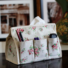 New Pastoral Floral 6 pocket Tissue Box Napkin Cover Paper Holder Handkerchief Case #67765(China (Mainland))
