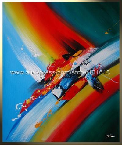 Achetez en gros moderne toile peinture id es en ligne des grossistes modern - Tableau huile moderne ...