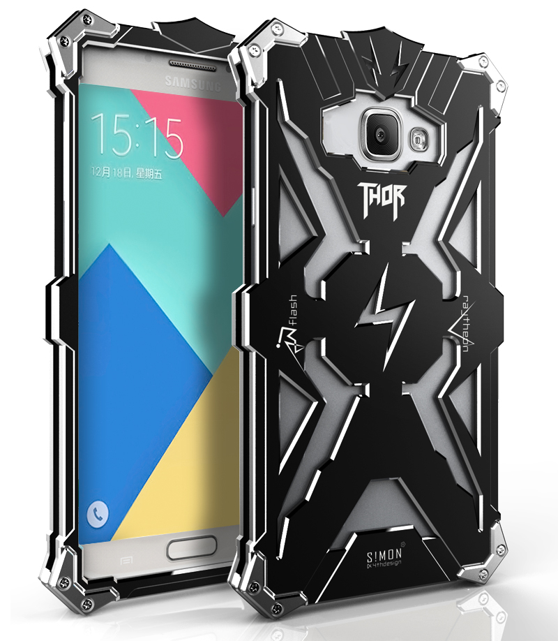 For Samsung Galaxy A7 A7100 Brand Thor Luxury Heavy Duty Armor Metal Aluminum Case Phone Back Cover For Samsung A7 2016 version(China (Mainland))