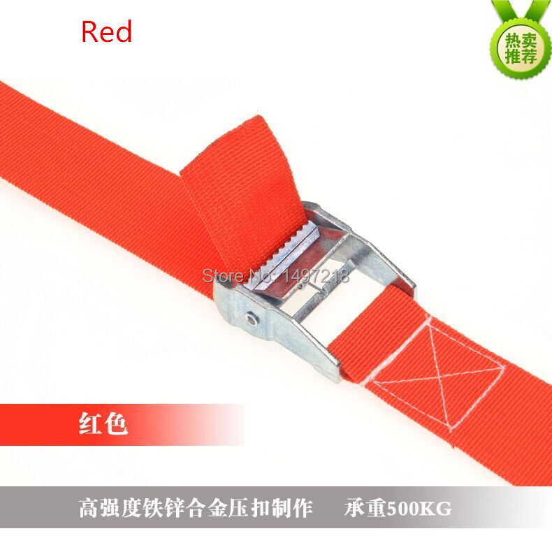 Free Shipping New 2pcs 2 inch (5cm) *1meters Polypropylene Metal cargo lashing strap ratchet tie down cam buckle winch strap(China (Mainland))