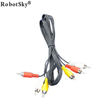 High quality 3 RCA to RCA Male to Male Cable DVD Cable Audio Video TV Cable 1.5M  XC1093