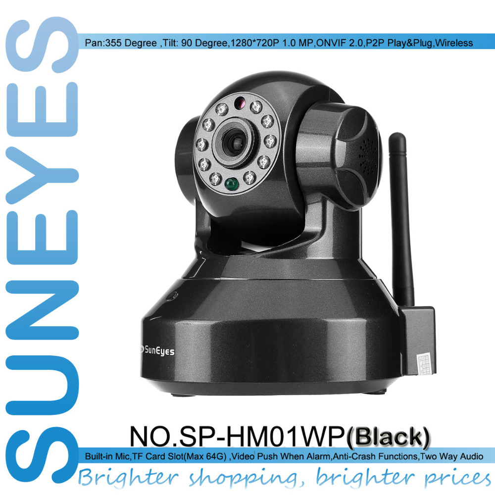 SunEyes SP-HM01WP ONVIF H.264 720P HD IP Camera Wifi Network CCTV Camera with IR Cut and Support Max 64G Micro SD Card Slot(China (Mainland))