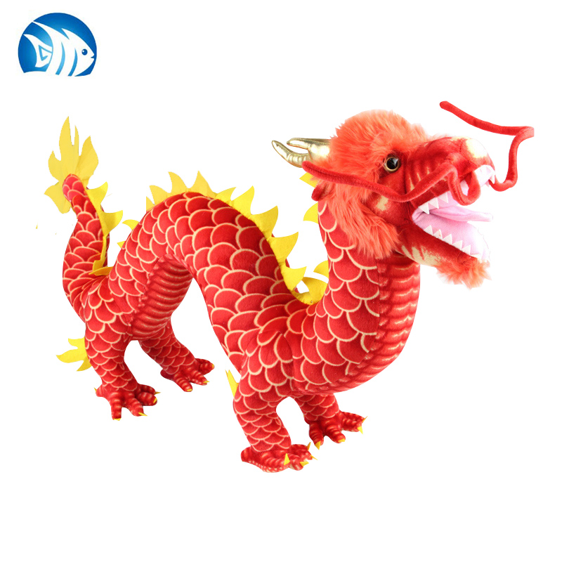 new creative plush dragon toy red Chinese dragondoll gift about 90cm(China (Mainland))