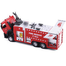 Buy Diecast 1:32 Water Fire Engine Car Toy Fire Rescue Truck Models Metal Alloy Collectible Kids Toys Children for $25.03 in AliExpress store