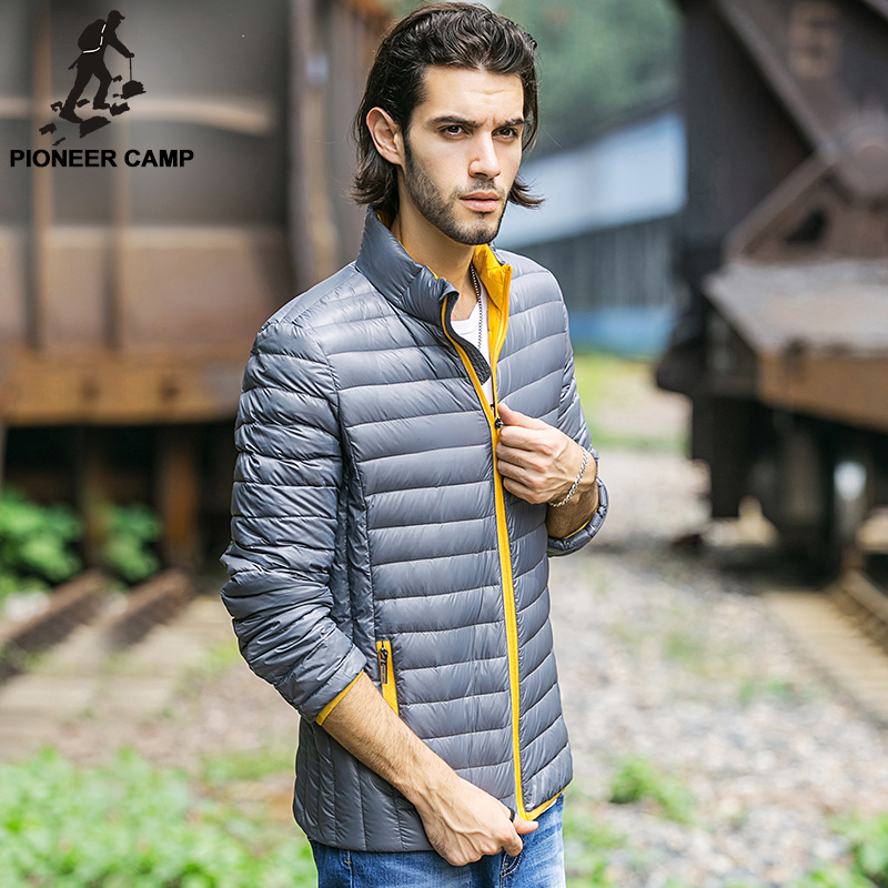 Pioneer Camp 2016 New arrival 90% white duck down jacket men brand clothing High quality waterproof male Parkas big size(China (Mainland))