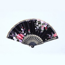 Buy Chinese Bamboo Folding Silk Hand Fan Flower Wedding Christmas Party Summer for $1.32 in AliExpress store