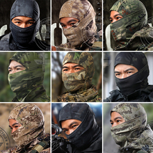 9Color Tight Multicam Camo Balaclava Armd Tactical Airsoft Hunting Outdoor Military Motorcycle Cycling Protection Full Face Mask(China (Mainland))