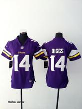 Minnesota Vikings For WOMEN Teddy Bridgewater Stefon Diggs Harrison Smith Adrian Peterson Anthony Barr lady BR-3,camouflage(China (Mainland))