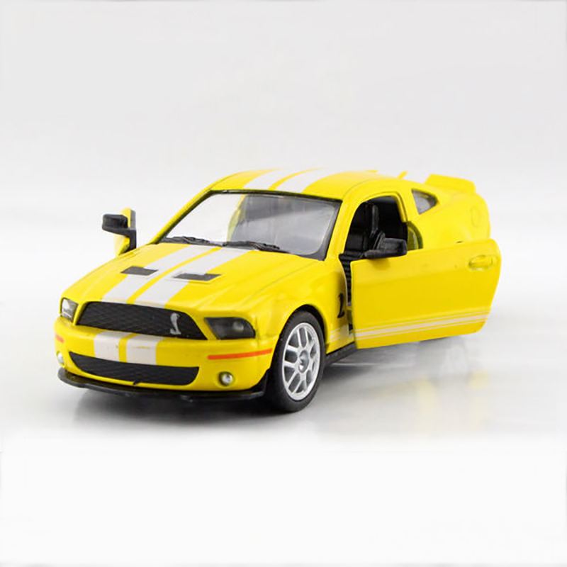 Kinsmart Mustang Shelby GT500 Yellow 1/38 alloy models model car Sports car pull back car children's toys car Kids toy(China (Mainland))