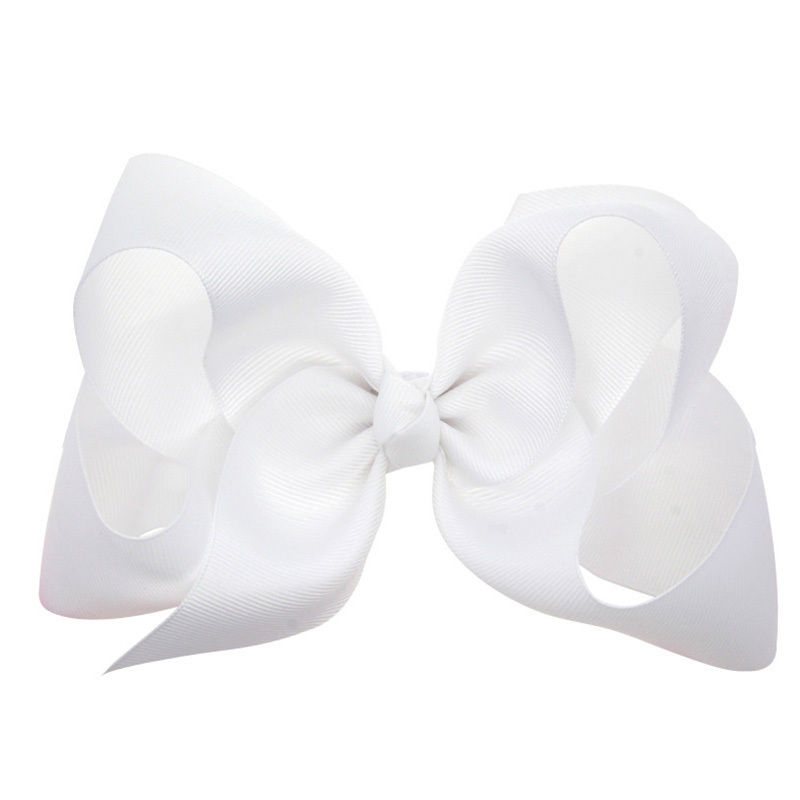 1 pcs 6 inch Boutique Kids Big Baby Hair Clips Grosgrain Ribbon Bows For Girls Barrettes Children Accessories Hairpins Headwear(China (Mainland))