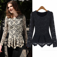 2013 spring loose long-sleeve plus size clothing basic shirt meters beige lace one-piece dress(China (Mainland))
