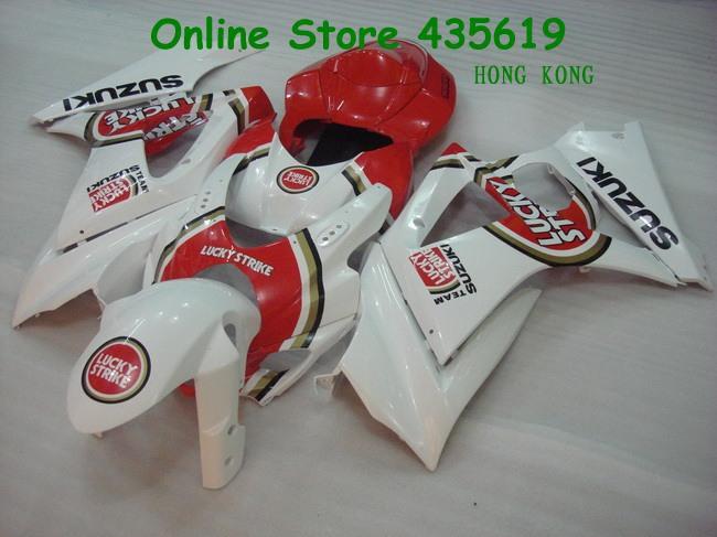 Hot Sales, Red White GSXR1000 Fairings Suzuki GSXR1000 K7 2007 2008 07 08 GSXR1000 ABS Motorcycle Fairings Accessories(China (Mainland))