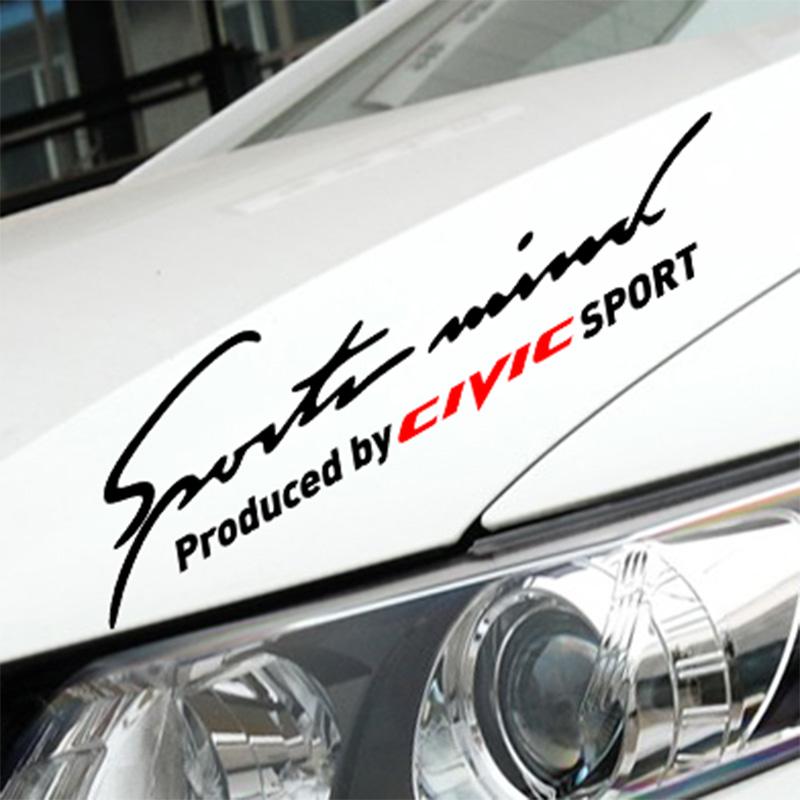 Customization Sports Mind Car Styling On Car Lamp Eyebrow For honda civic accessories(China (Mainland))