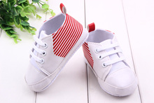 Fashion Baby Shoes 3 Colors White & Stripes Cotton Shoes Soft Bottom Baby Gilr and Boy Shoes Sneakers Wholesale(China (Mainland))