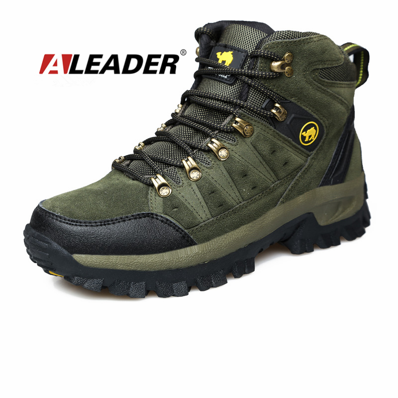 Winter Hiking Shoes Men Boots New 2016 Sport Leather Outdoor Man Mountain Climbing Trekking Botas Zapatos Hombre - Aleader Brand Flagship Store store