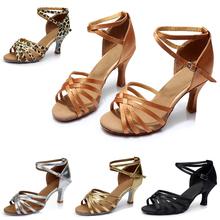 Buy Girl's/Ladies Latin Dance Shoes Popuplar High Women's Satin /Leatherette Ballroom Tango Latin Shoes 5.5cm /7cm Heel for $10.29 in AliExpress store