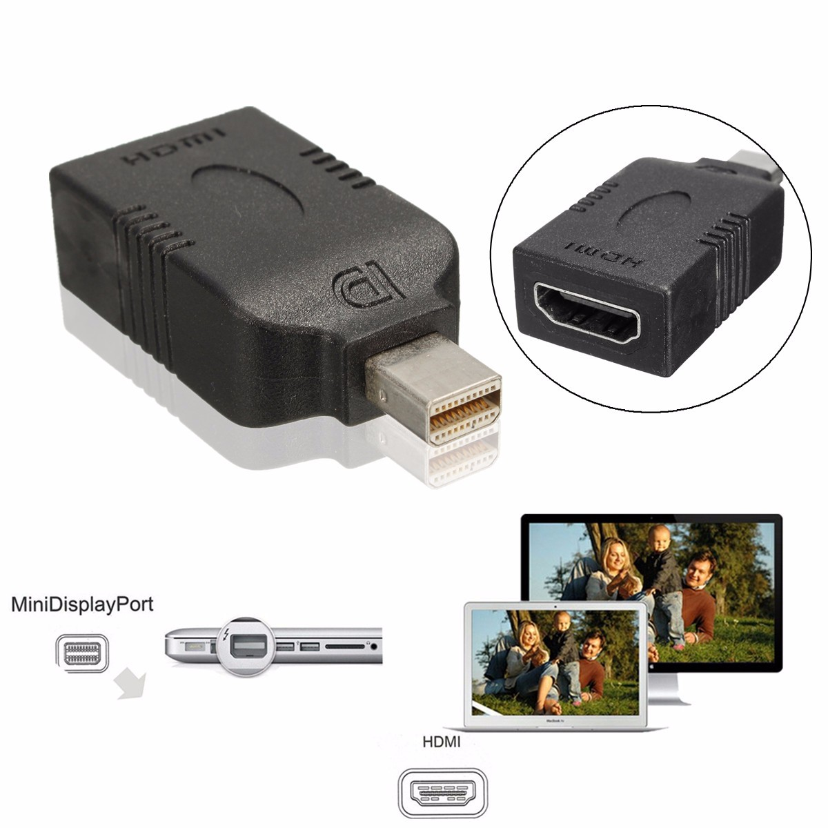Mini Display Port Thunderbolt DP To HDMI Adapter Converter Cable Video Audio Connector For Mac For Macbook Pro Air 1080P(China (Mainland))