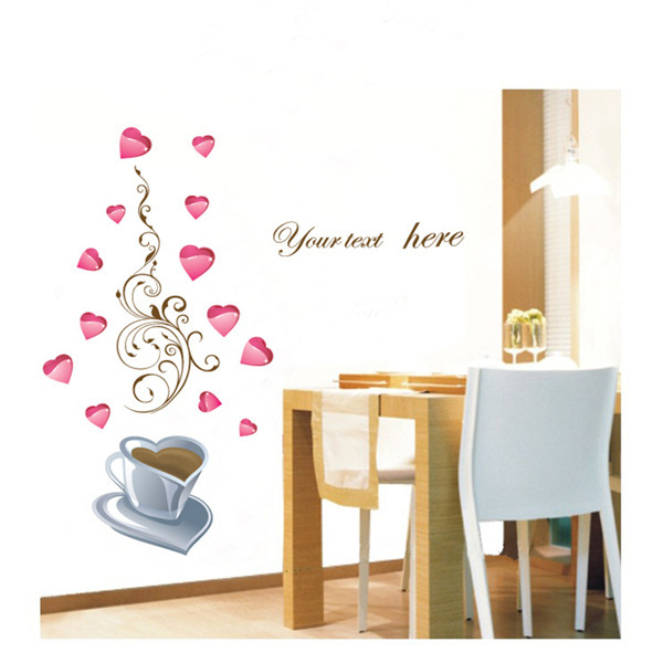Foreign trade background TV living room bedroom wedding room sofa backdrop wallpaper stickers AY933 coffee story(China (Mainland))