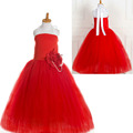 kids party gowns designs red tutu party dresses for 8 year old girls tulle wedding gowns