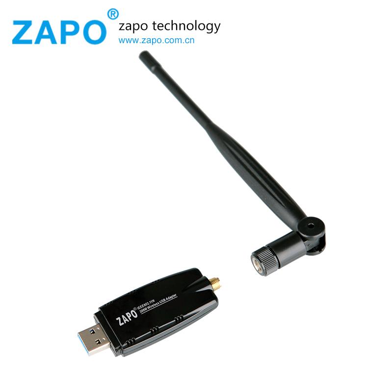 ZAPO New 300Mbps Wireless Network Card USB 2.0 wifi Adapter Wifi Signal Receiver WI-FI 802.11n/g/b Ethernet 5db Antenna Lan Sale(China (Mainland))